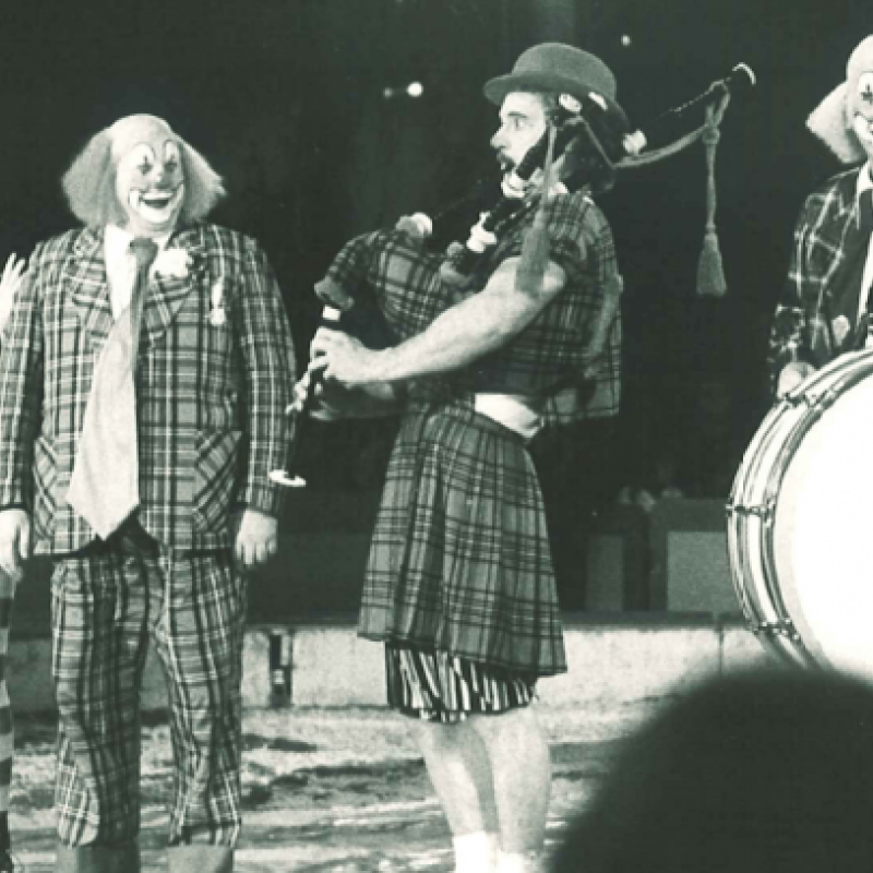 Clown och band